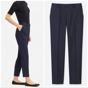 Uniqlo EZY pinstriped dress pants ankle trousers